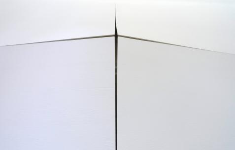 <p>Pierre Labat, <b><i>Dum-Dum</i></b>, 2008, bois acrylique, 490x430x12 cm. Vue de l'exposition <i>Phénomènes</i> de In Extenso, Néon, Lyon, 2011. Photo : Néon.</p>