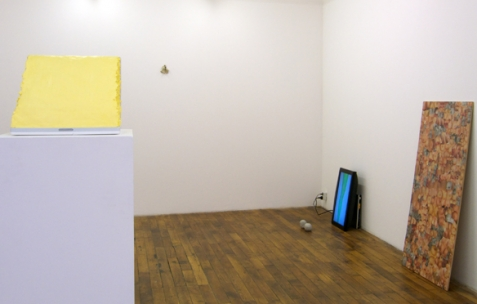 <p>Vue de l&rsquo;exposition<em>A Limoncello Punctuation Programme</em> de Limoncello avec Joséphine Flynn et Jack Strange, Néon, Lyon, 2010. Photo : Maxime Rizard / Néon.</p>
