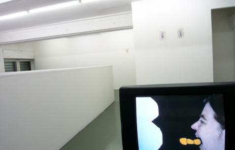 <p>Vue de l'exposition<em>A Limoncello Punctuation Programme</em> de Limoncello avec Joséphine Flynn et Jack Strange, Néon, Lyon, 2010. Photo : Maxime Rizard / Néon.</p>