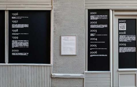<p>Vue de l'exposition <em>(1991-2011)</em> organisée par Néon<em>,</em> In Extenso, Clermont-Ferrand, 2012. Photo : In Extenso / Néon.</p>
