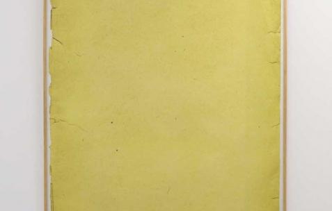 <p>Sébastien Maloberti, <strong><em>Big Ol' / yellow</em></strong>, 2013, impression numérique sur papier, 90x125cm. Vue de l'exposition <em>Blind Lemon</em>, Néon, Lyon, 2013. Photo : Pierre Gaignard /Néon.</p>
