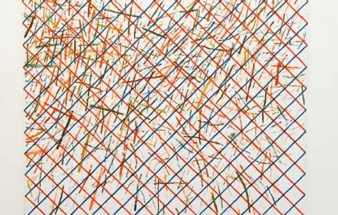 <p>Anthony Jacquot Boeykens, <b><i>Re-re-Garçon-coquillage</i></b>, 2015, peinture à l'huile sur pvc expansé, 143 x 168 cm. Vue de l'exposition <i>Problème et tarot</i>, Néon, Lyon, 2015. Photo : Anne Simonnot/ Néon, 2015.</p>