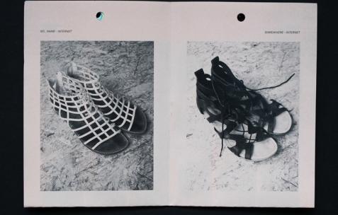 <p>Dieudonné Cartier, <strong><em>Selection of collection &#8211; N°13 &#8211; (Claire Bossuet)</em></strong>, photocopie sur papier couleur, 20 pages, 20 exemplaires numérotés, 10,5&#215;14,8cm, édité par Théophile's Papers, produit par Néon, 2014. Photo : Dieudonné Cartier, 2014.</p>