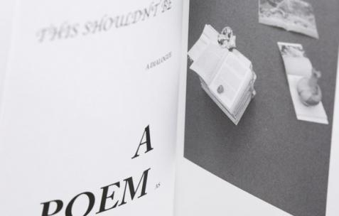 <p>Félicia Atkinson<strong>, <em>Improvising sculpture as delayed fictions</em></strong>, couverture verte, intérieur noir sur papier blanc, relié broché, 200 pages, 13,5 x 20 cm, première édition de 1000 exemplaires, édité par Shelter Press, 2014. Théophile's Papers en résidence chez Néon 2014 – 2016. Vue de l'exposition <em>About book</em> <em>– B/F</em>. Photo : Anne Simonnot / Néon, 2014.</p>