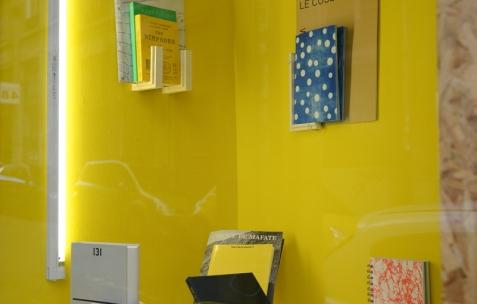 <p>Christo Nogues, <strong><em>LUC &amp; BLOC</em></strong>, 2015, plâtre résiné, béton et pigments, Théophile's Papers, Néon, dimensions variables. <em>About book</em>, Vue de la collection <em>/30</em> dans la Boîte. Théophile's Papers en résidence chez Néon 2014 &#8211; 2016.. Vue de l'exposition <em>About book</em> <em>&#8211; D/F</em>. Photo : Anne Simonnot / Néon, 2015.</p>