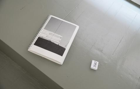<p>Luce Differe, <strong><em>Les vies dansent</em></strong>, 2016, désigné par Alexis Jacob, auto-édition, 23x30x2cm. Alex Balgiu et Bizzarri &amp; Rodriguez, <strong><em>Sans titre</em></strong>, 2016, boîtes d'allumettes (sans allumettes), sucre, dimensions variables. Théophile's Papers en résidence chez Néon 2014 &#8211; 2016. Vue de l'exposition <em>About book</em> <em>&#8211; E/F</em>. Photo : Anne Simonnot / Néon, 2016.</p>
