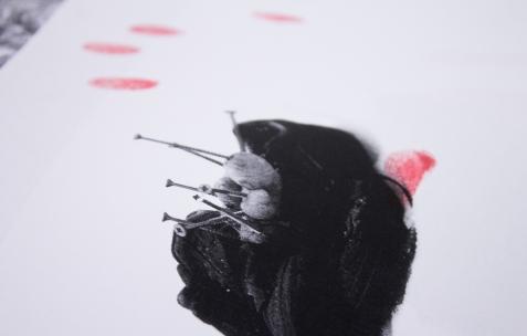 <p>Jean-Alain Corre,<em>Very Small Deal #0,<strong> Driller-Killer</strong></em><em> (détail)</em><em>, 2009</em>, Photocopie, A4, 60 exemplaires, numérotés et signés. Photo : Valentin Defaux / Néon, 2016.</p>