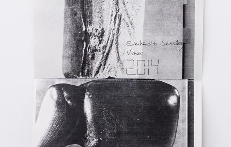 <p>Baptiste Croze, <em>Very small deal #9,</em><em> <strong>Everhard't Serclaes / Venus, </strong></em>2014, photocopie, A4, 60 exemplaires numérotés et signés. Photo : Valentin Defaux / Néon, 2016.</p>