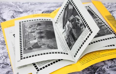 <p>Maeva Cunci &amp; Dominique Gilliot, <strong><em>Sysiphe Papier </em></strong>(détail), 2012, publication, papier, cartons, plastique, pochette avec diverses impressions numériques, 16x23cm. Photo: Valentin Defaux / Néon, 2016.</p>