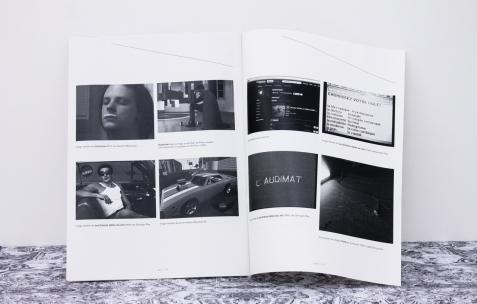 <p><strong><em>(1991-2011), </em></strong>Simon Feydieu<strong><em>, </em></strong>à propos de l'exposition hors les murs (1991-2011) avec Quentin Maussang et Georges Rey à In Extenso Clermont-Ferrand<strong>,</strong> 2012, publication, 21×29,7cm. Photo : Valentin Defaux / Néon, 2016.</p>