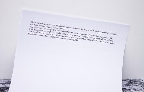 <p><strong><em>pizza noise mafia néon 22.01-19.03.2016 vernissage 21.01 19h concert 18.02 21h à partir d'une invitation à christophe de rohan chabot </em></strong>(détail), format d'exposition: publication, 12 feuilles, A4, pochette en plastique, premier tirage à 50 exemplaires, édition: Néon, 2016.</p>