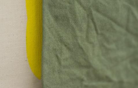 <p>Sehyong Yang, <strong><em>2 Rue Bougeaud </em></strong>(détail), 2016, peinture et teinture sur toiles assemblées, 96x54cm. Vue de l'exposition <em>Marche et Toile Libres</em>, Néon, Lyon, 2016. Photo: Anne Simonnot / Néon, 2016.</p>