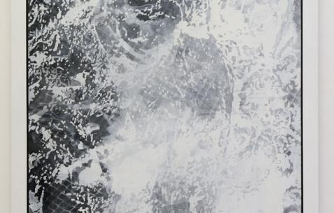 <p>Sebastien Capouet, <strong><em>1PNT_079</em></strong>, 2015, acrylique sur toile encollée sur aluminium, 83,6x112cm. Vue de l'exposition <em>Don't read books</em> – commissaire : Théophile's papers – Néon, Lyon, France, 2016. Photo: Anne Simonnot/ Néon, 2016.</p>
