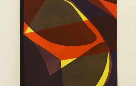 <p>Daniel Mato, sur Jaune Mondrian (Chromatic® & Seigneurie®), <strong><em>sans titre</em></strong>, 2017, acrylique sur toile, 33x24cm. Vue de l'exposition <em>Les Tournesols,</em> Frédéric Houvert invite Daniel Mato, Laurent Proux, Fabio Viscogliosi. Photo: Anne Simonnot / Néon, 2017.</p>