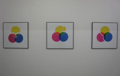 <p>Fanny Torres, <strong><em>Oligarchie Aristologique</em></strong> (extrait) (détail), 2009, impressions numériques encadrées et vinyle adhésif, 50x50cm. Vue de l'exposition <em>Aristologie</em>, Néon, Lyon 2009. Photo: Jean-Alain Corre.</p>