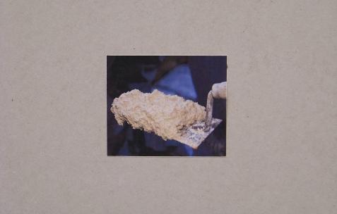 <p>Simon Feydieu et Jean-Alain Corre, <strong><em>Autoportrait SF</em></strong>, 2009, impression sur placo BA13, dimensions variables. Vue de l'exposition <em>Mineral Murder,</em> Néon, Lyon, 2009. Photo: JAC.</p>