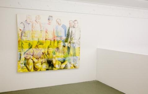 <p>Anna Gaume, <strong><em>Sans titre</em></strong>, 2006, aquarelle sur papier, 172x146cm. Vue de l'exposition d'Anna Gaume, Néon, Lyon, 2009. Photo: Emanuelle Firman</p>